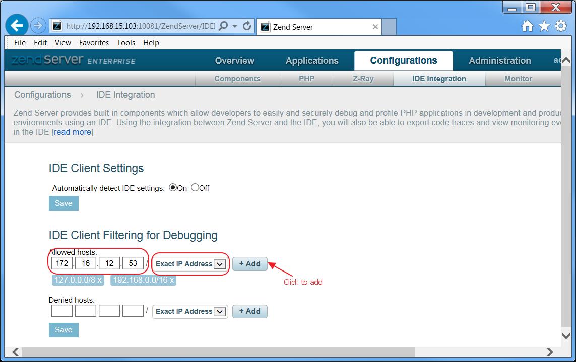Ibm I Example Configure Remote Debugging Zend Customer Support